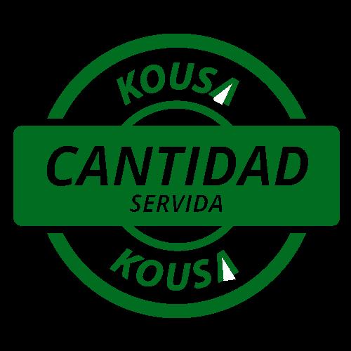 Cantidad servida Kousa