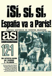 Mítica portada del diario AS tras el España 12-1 Malta