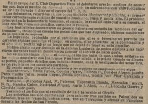 Extracto de la crónica de el diario El Diluvio (10 de junio de 1914).